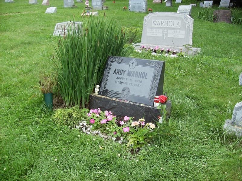 warhol grave close-up