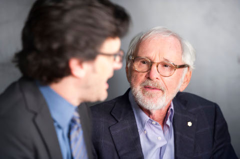Ben Mankiewicz, director Norman Jewison