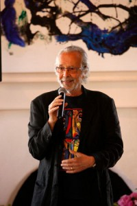 Herb Alpert speaking at his Foundation