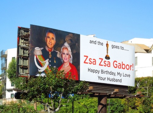 zsa zsa oscar birthday billboard