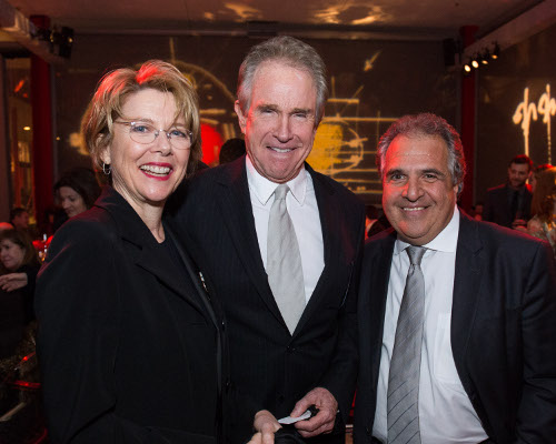 Annette Bening (left), Co-Chair of The Academy Museum, Warren Beatty (center) and Academy Governor Jim Gianopulos