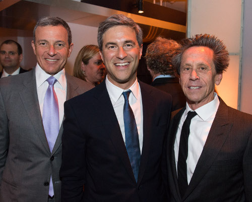 Bob Iger (left), Chair of The Academy Museum, Michael Govan (center) and Brian Grazer