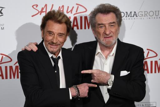Photo de Johnny Hallyday & son ami acteur  Claude Lelouch