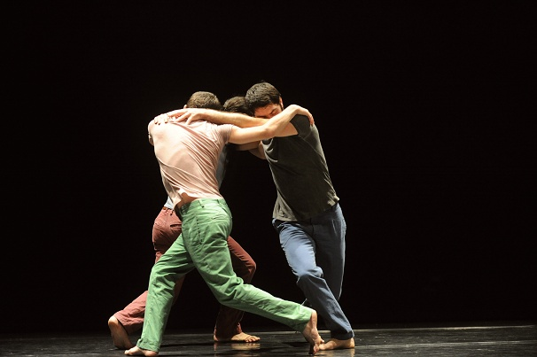 Roy Assaf's THE HILL, for three men, a furious dance-drama enacting the Israeli-Palestinean conflict