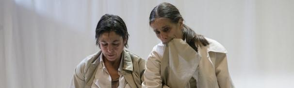 "Maria Munoz & Raffaella Giordano's ""In contro,"": brilliant improvisations as dancing Vladimir, Estragon"