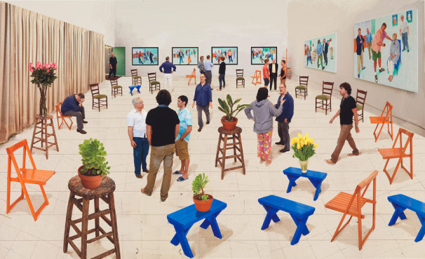 David-Hockney-Painting-and-Photography-17Blue-Stools-DH15-107
