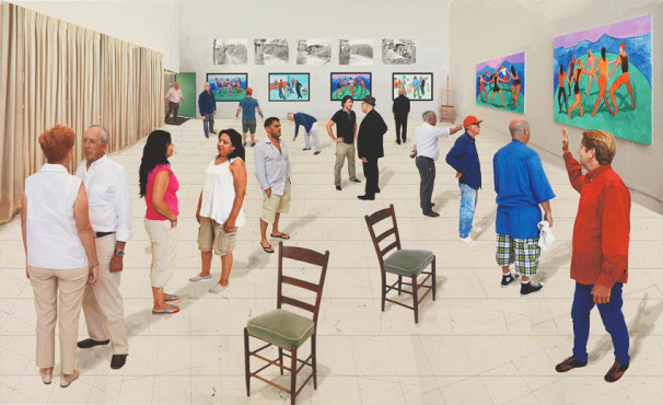 David-Hockney-Painting-and-Photography-21Two-Chairs-with-People-DH15-118