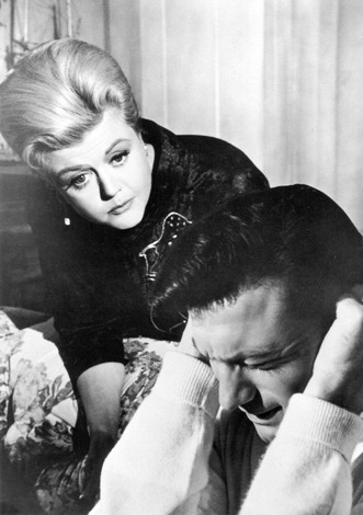 "1962 - Angela Lansbury and Lawrence Harvey in ""The Manchurian Candidate."""