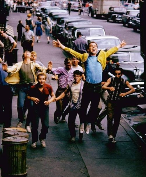 Russ Tamblyn & the «Jets» on the set of «West Side Story» (photo by Gjon Mili, 1960)