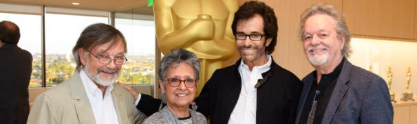 """Actors Robert Banas, Maria Jimenez Henley, George Chakiris and Russ Tamblyn prior to a screening of """"West Side Story"""" presented by the Academy of Motion Picture Arts and Sciences, Monday, July 18, 2016."""