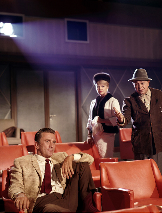 Left to right: Kirk Douglas, Claire Trevor and Edward G. Robinson in TWO WEEKS IN ANOTHER TOWN (1962), directed by Vincente Minnelli.