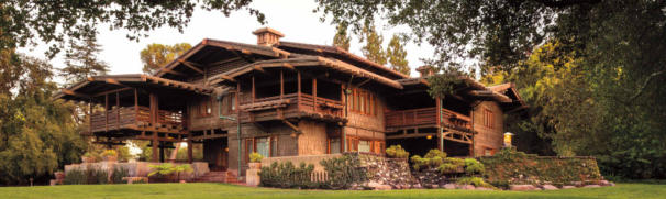 NW Exterior.  The Gamble House.